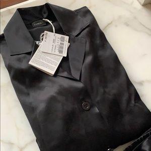 La Perla. 100% silk black pajama set
